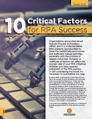 Whitepaper: 10 Critical Factors for RPA Success