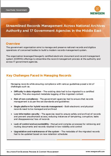 Case Study: Records Management Transformation Across a National Archives Authority & 17 Government Agencies