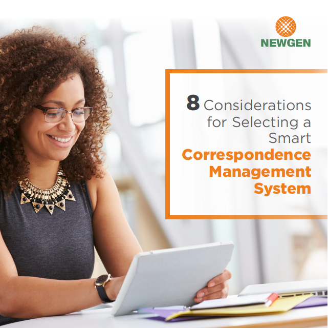 eBook: 8 Considerations for Selecting a Smart Correspondence Management System