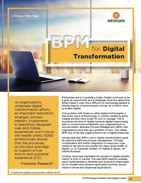 Whitepaper: BPM for Digital Transformation