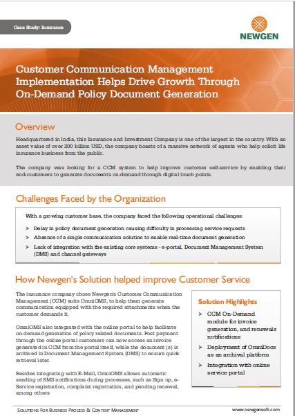 Case Study: CCM Implementation Helps Drive Growth Through On-Demand Policy Document Generation