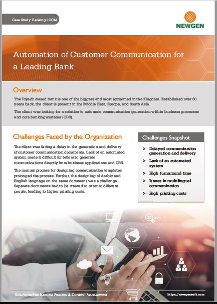 Case Study: Customer Communication Automation for a Leading Bank