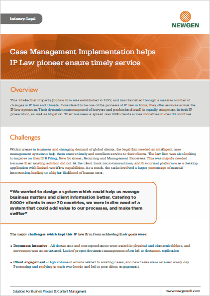 Case Study: Legal Case Management Implementation helps IP Law pioneer ensure timely service