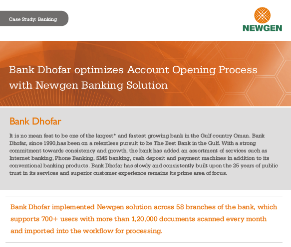 Case Study: Account Opening Process Automation at Bank Dhofar