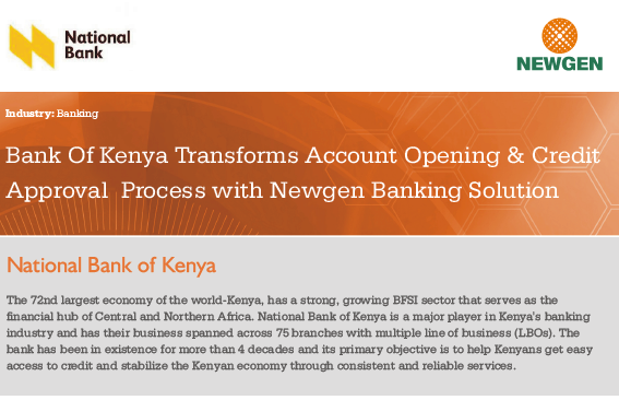 Case Study: Account Opening Process Automation at National Bank of Kenya