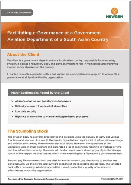 Case Study: eGov Implementation at a Government Aviation Department