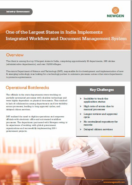 Case Study: eGov Implementation in an Indian State Government Department