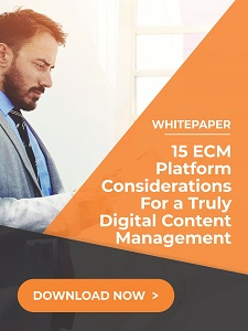 15 ecm platform consideration for truly digital content management  - Whitepaper: The Three Hurdles to Digital Transformation