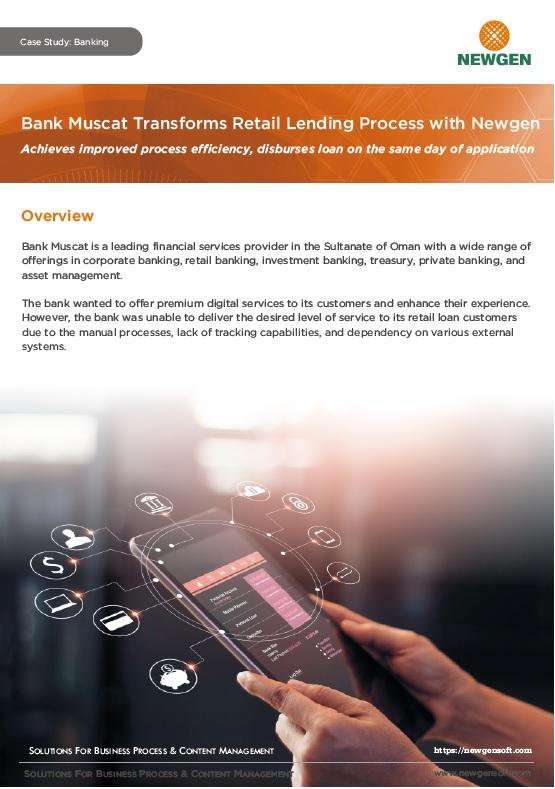 Case Study: Bank Muscat Transforms Retail Lending Process with Newgen