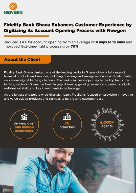 Case Study: Fidelity Bank Ghana Enhances Customer Experience by Digitizing its Account Opening Process