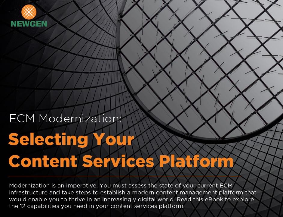 eBook: ECM Modernization – Selecting Your Content Services Platform