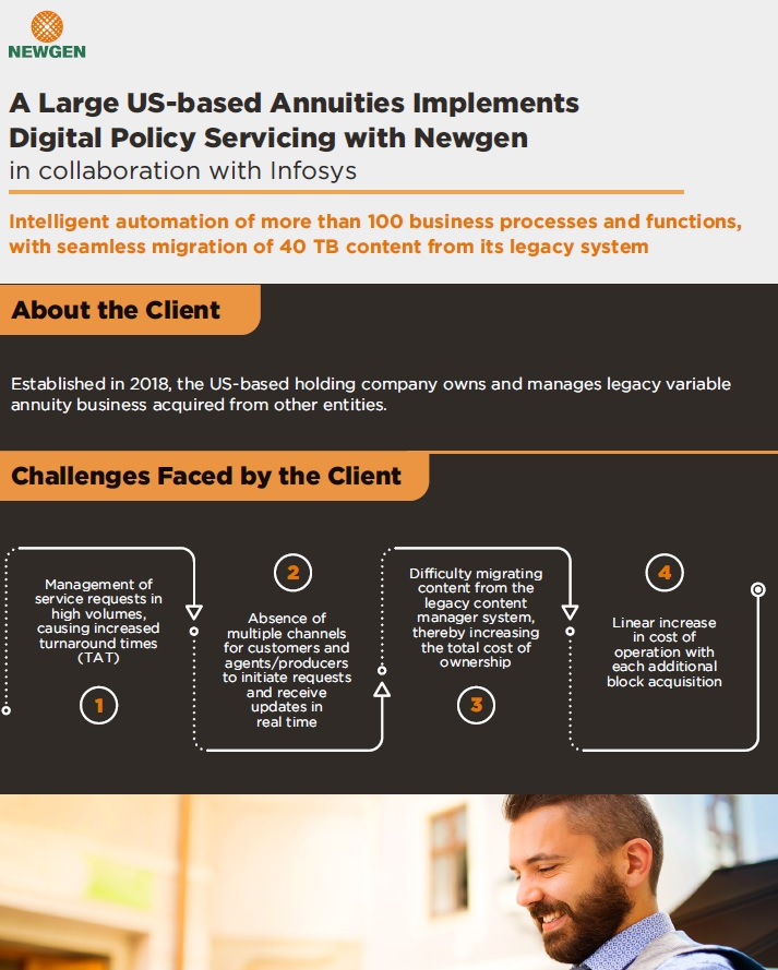 Case Study: A Large US-based Annuities Implements Digital Policy Servicing with Newgen