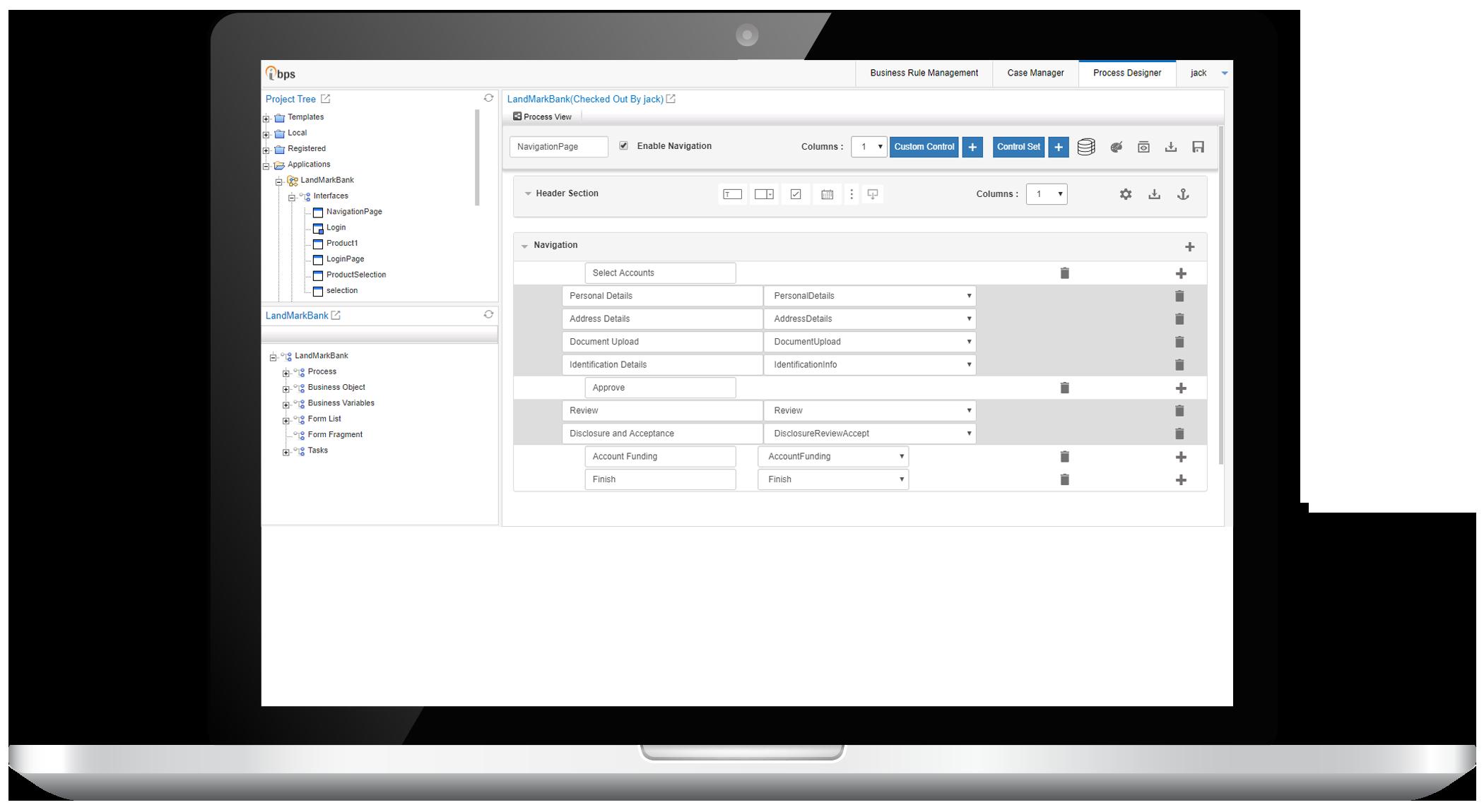 Low Code Application Development - Business Process Automation and Management (BPM)