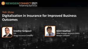 Video: Digitalization in Insurance for Improved Business Outcomes by Sreedhar Suragouni