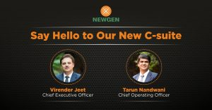 Newgen Announces Key Management Changes; Names Virender Jeet as CEO, Tarun Nandwani as COO